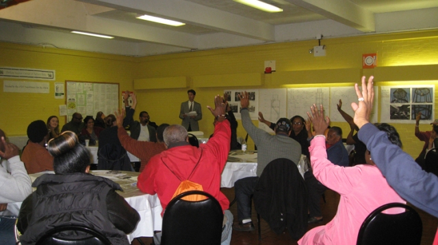 The Marcus Garvey Park Alliance community meeting Oct 2013