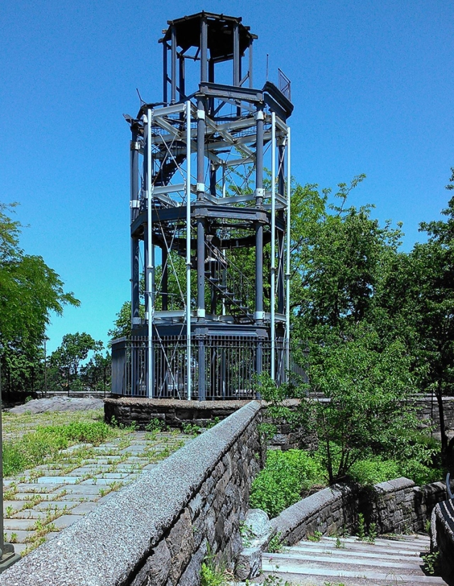 The Harlem Fire Watchtower also know as the Mount Morris Fire Watchtower.