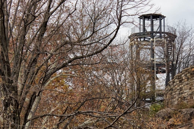 The Watchtower Through The Trees Photo: Cynthia M. Reed.