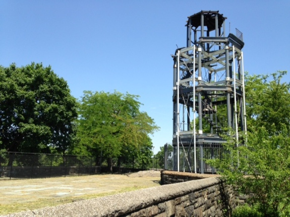 The Fire Watchtower photographed in the Spring of 2014. Photo Connie Lee