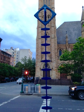 Fish Spine, Jorge Luis Rodriguez, 1987 On view June 9, 2016 to May 9, 2017 Presented by the Marcus Garvey Park Alliance in partnership with the artist and the Department of Transportation's Art Program Lenox Avenue at 123rd Street