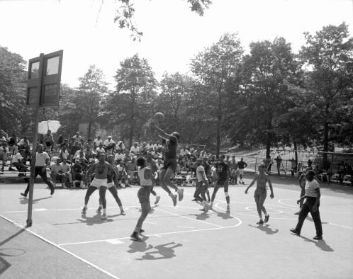 40024_1_M058_07-23-1966_Rucker League Baskerball Game, Marcus Garvey Park_Daniel McPartlin